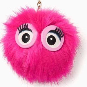 Kate Spade Monster Pouf Keychain *NWOT*